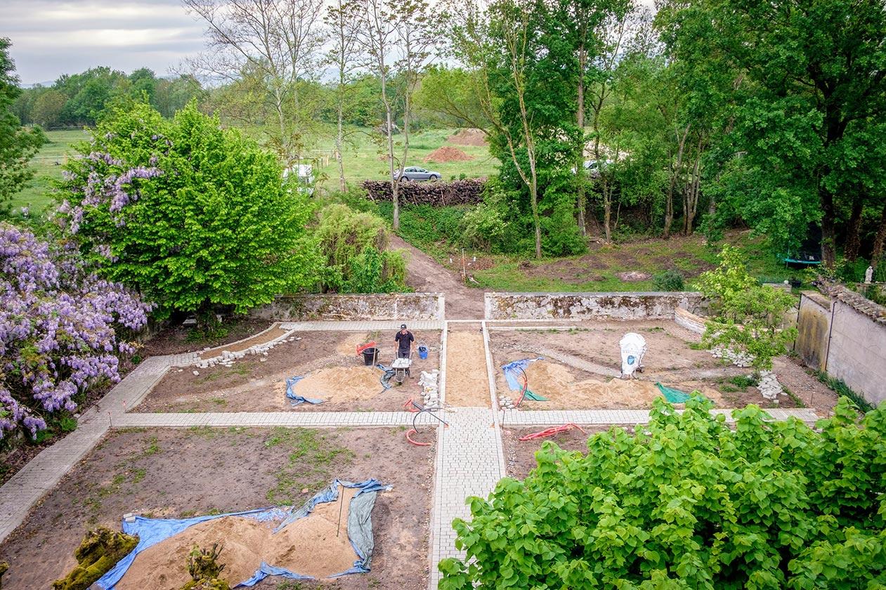 Conception d'un jardin à la française et un jardin à l'anglaise