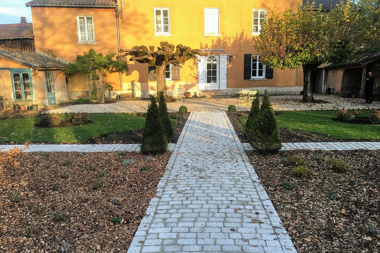 Jardin à la française et à l'anglaise